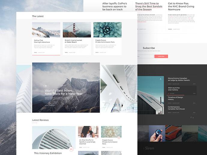 Free Sketch WordPress Blog&Magazine