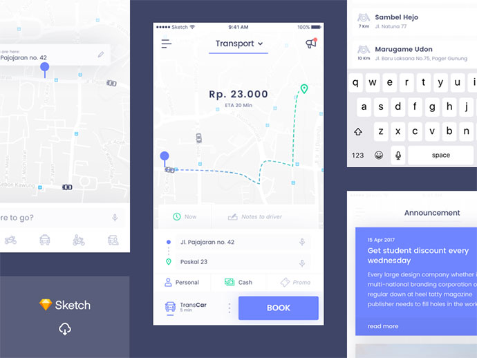 [Freebie] Online Transport UI