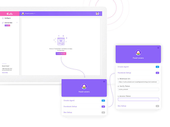 Chatbot Dashboard Design Free PSD