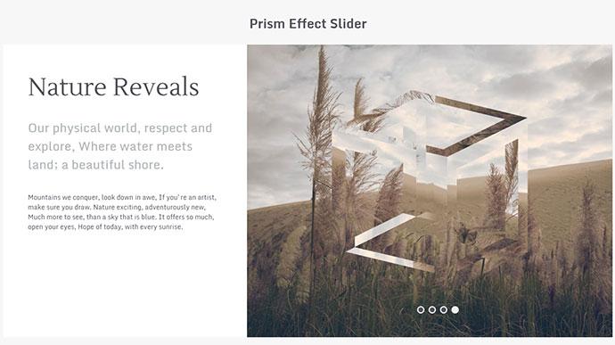 Prism Effect Slider