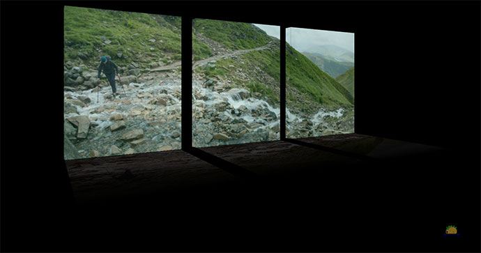 3-D Split Image Slideshow - Panorama w/ Reflection