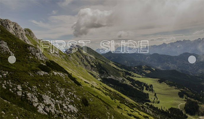 Pure css slider with custom effects