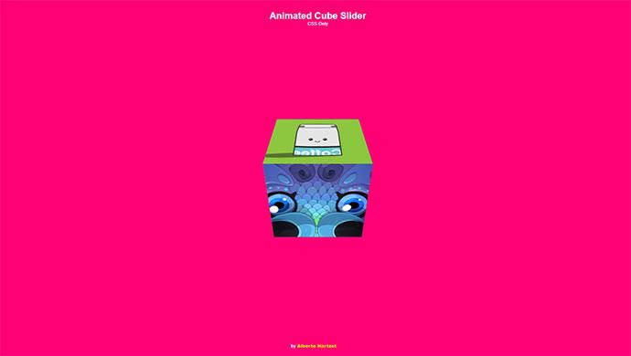 Animated cube slider