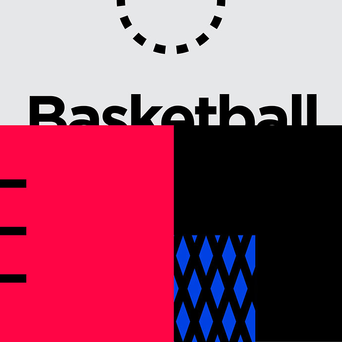 Minimalist Visuals - Basketball&Tennis