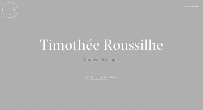 Tim Roussilhe Portfolio