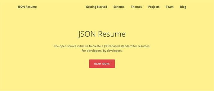 JSON Resume
