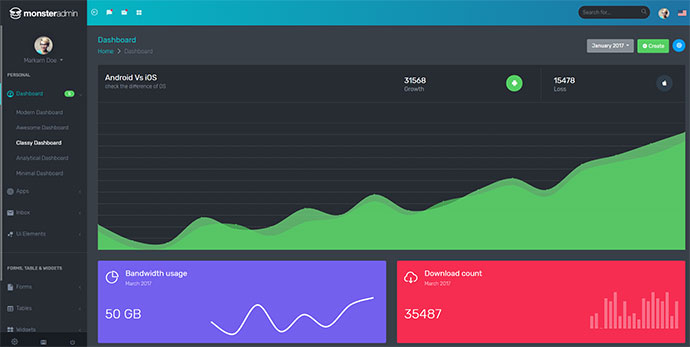 Monster - Most Complete Bootstrap 4 Admin Template
