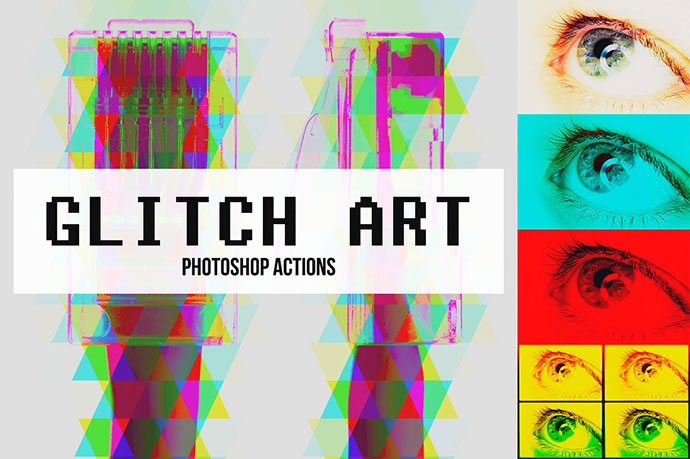 Abstract Glitch Art Photoshop Actions