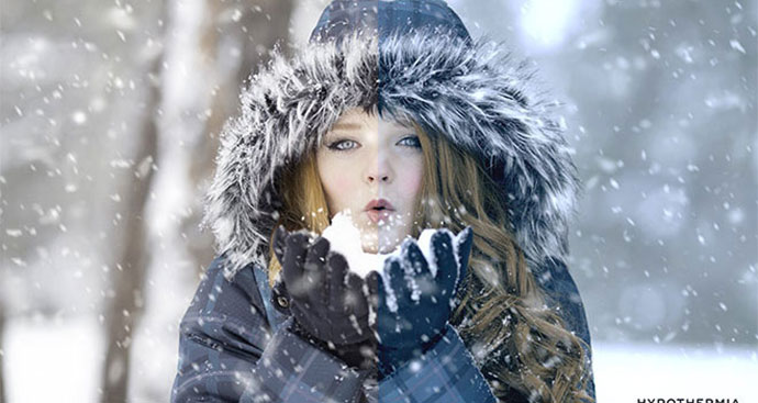 Free Winter Blues Photo Effect