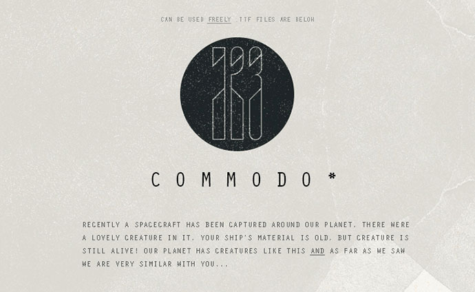 Commodos, a Free Numerals Font