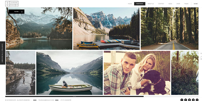 Outdoor - Creative Photography / Portfolio WordPress Theme