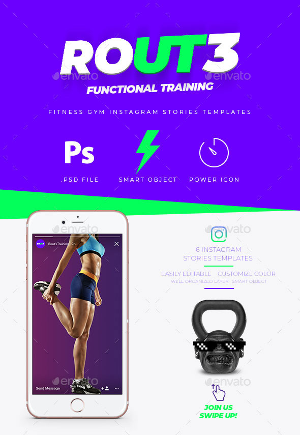 Fitness GYM Instagram Stories Banner Templates
