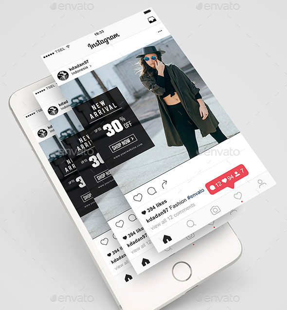 Fashion Instagram (Feed + Stories)
