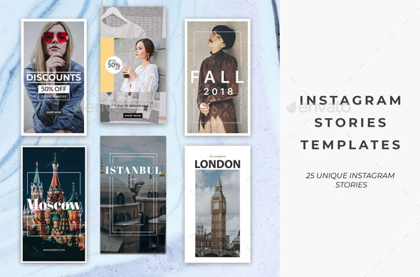 25 Instagram Stories Templates