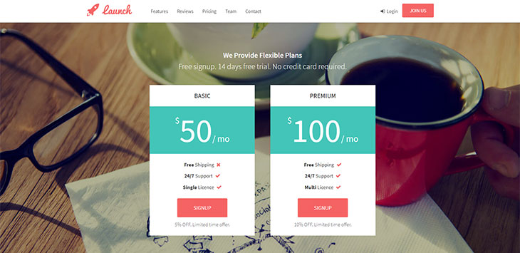 20 Landing Page Templates With Outstanding Pricing Table