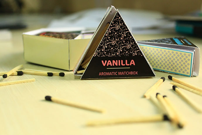 Aromatic matchbox packaging