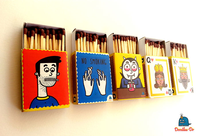 Cool matchboxes with a message