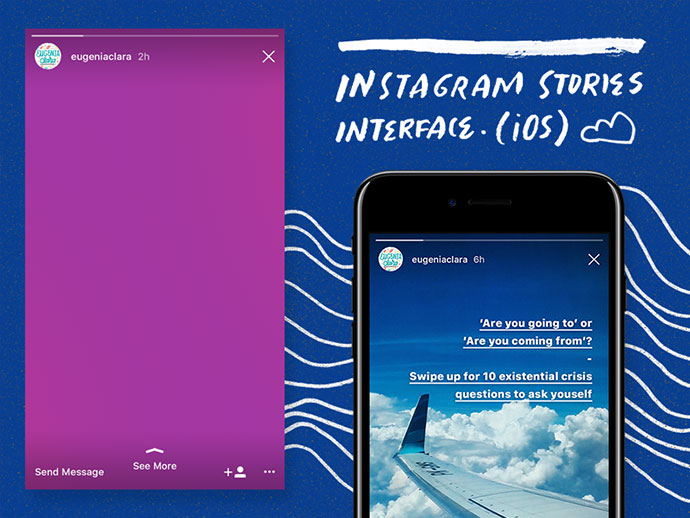 Instagram Stories (iOS) Interface PSD