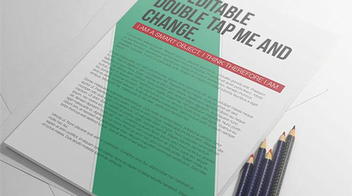 Free PSD Mockup - A4 Paper