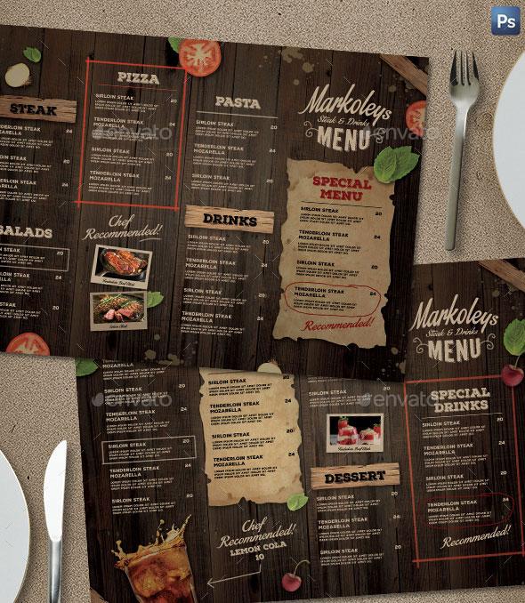 Rustic Cafe Menu Board