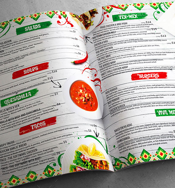 Mexican Menu Template vol.3