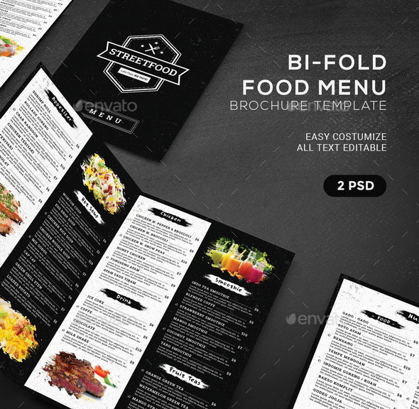 BiFold Food Menu Brochure Template