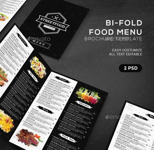 BiFold Food Menu Brochure Template
