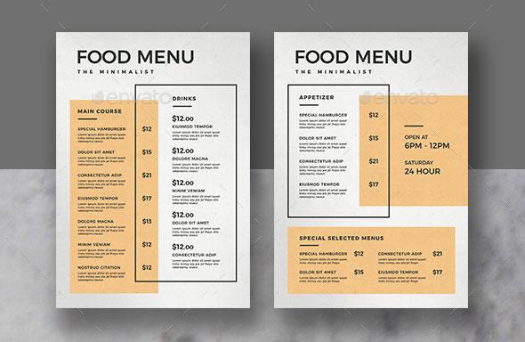 50 tempting restaurant menu designs 2018