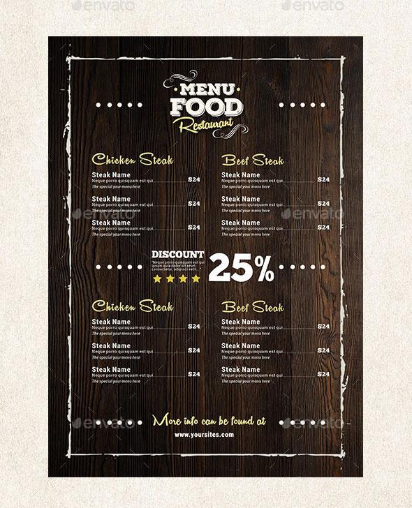Simple Food Menu Flyer