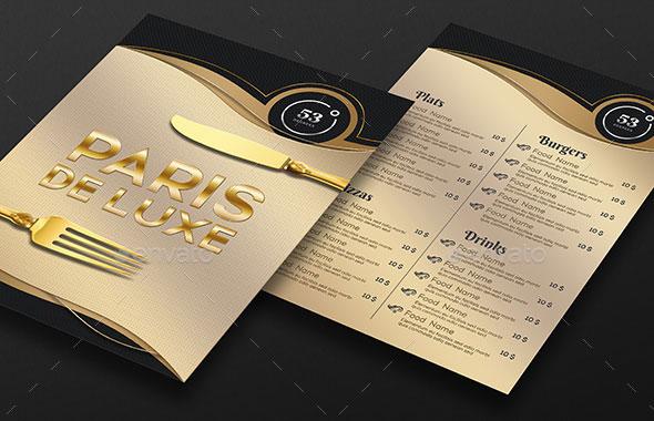 Luxury Restaurant Menu