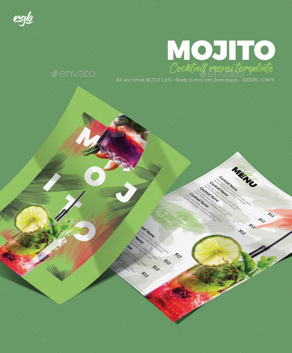 Mojito Cocktail Menu