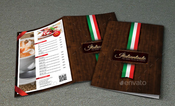 Italian Menu Restaurant Brochure