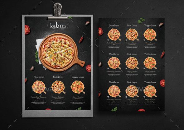 Rustic Pizza Menu - Flyer