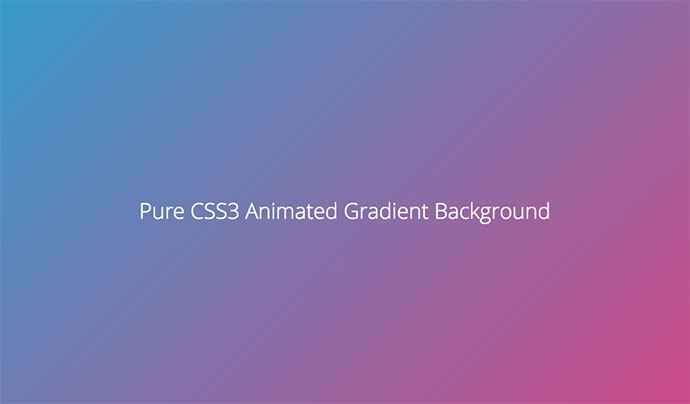 Pure CSS3 Gradient Background Animation