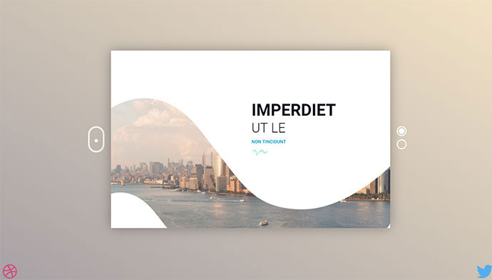 Clean Slider With Curved Background