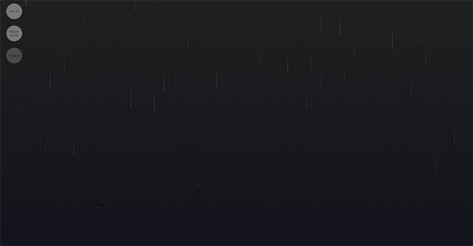 CSS Rain Effect