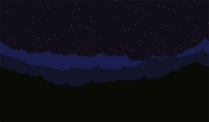 Scrolling Terrain and Shooting Stars