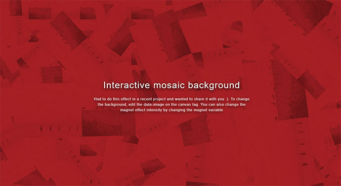 Interactive mosaic background