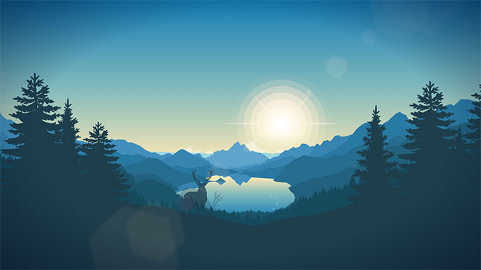 Landscape animation experiment