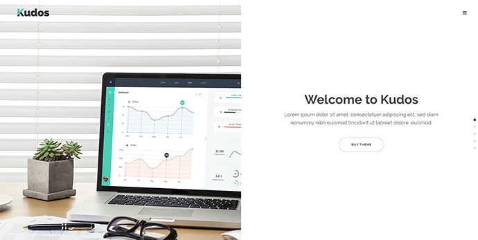 Kudos - A Fresh Theme for Creative Businesses and Individuals