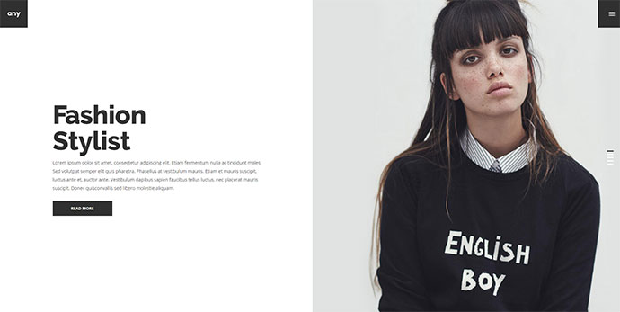 Any - Urban Agency & Freelancer Portfolio Theme