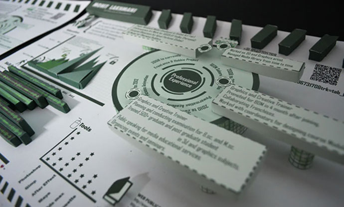 Info graphic 3d Paper Resume