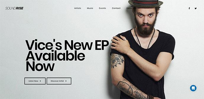 SoundRise - Music and Artist WordPress Theme