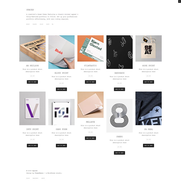 Spaces - Creative Multi-Purpose Portfolio and WooCommerce Shop WordPress Theme