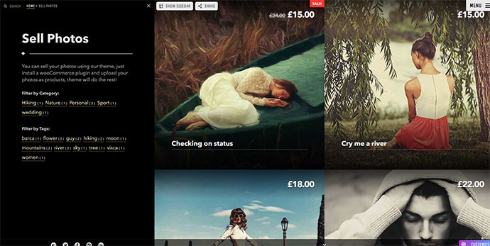 Photography - Full Screen Photography Portfolio, Photo Story Blog & Shop for Creative Professionals