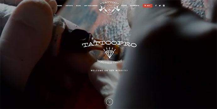 Tattoo Pro - Your Tattoo Shop WordPress Theme
