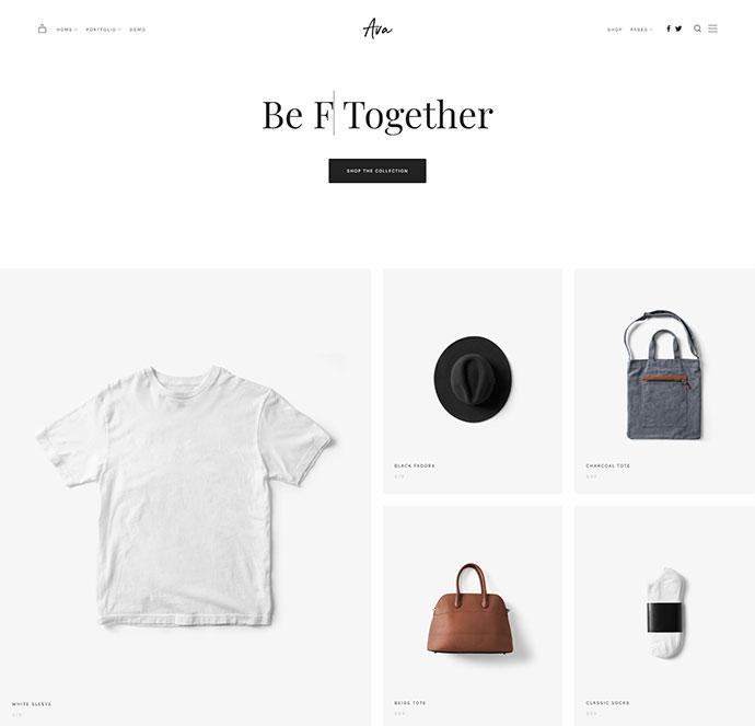 Ava - Creative Shop & Portfolio WordPress Theme for Professionals