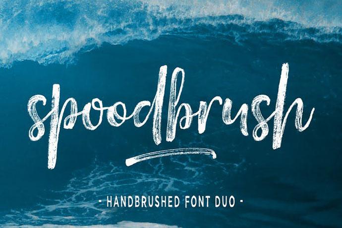 Spoodbrush Font