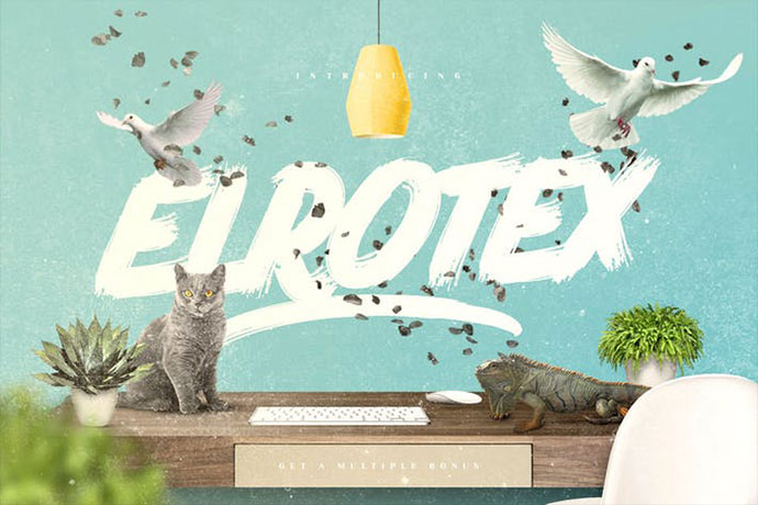 Elrotex Brush Font