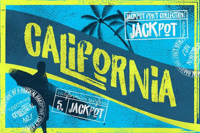 California Jackpot Font